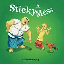 A sticky mess